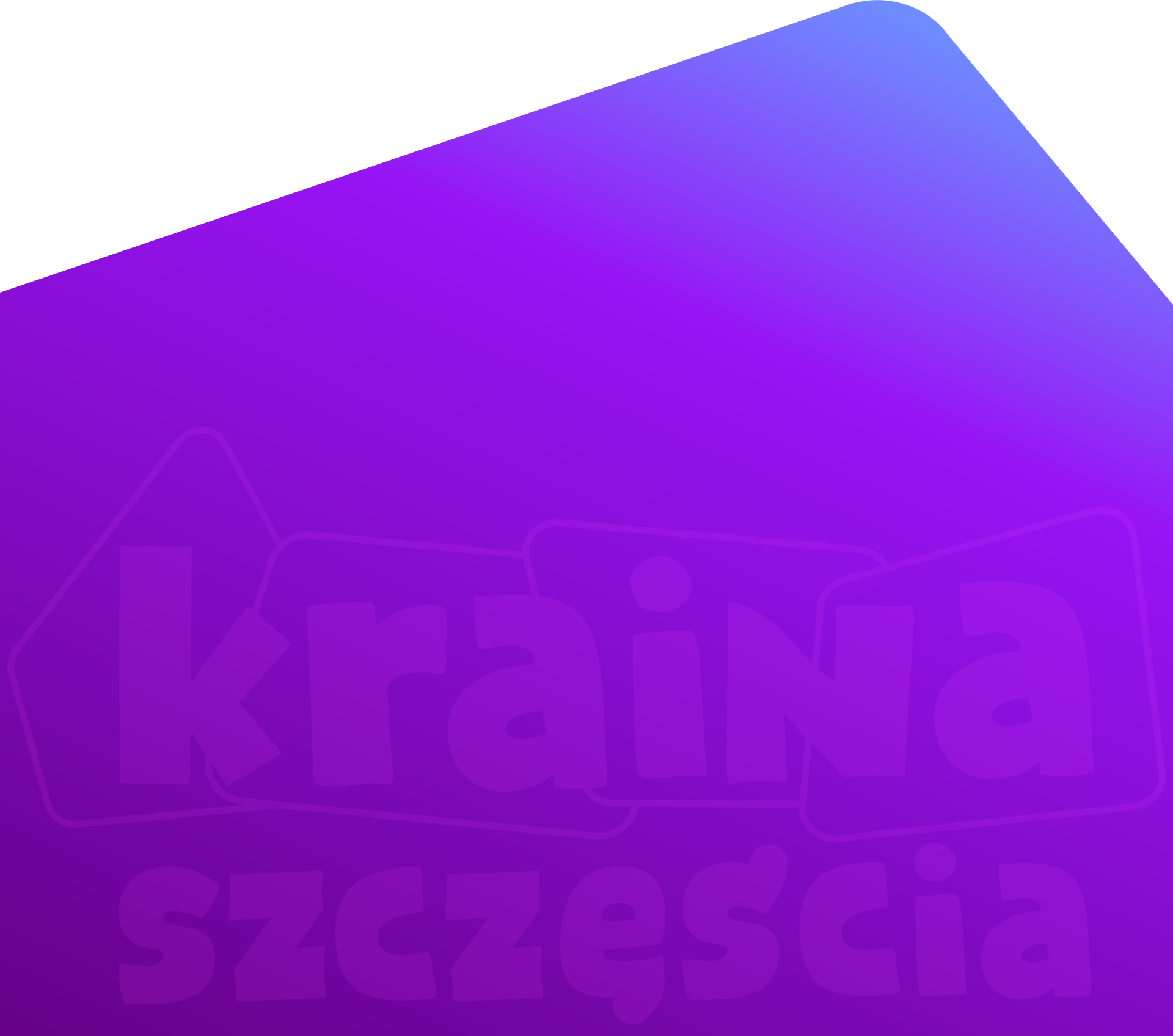 Logo na fioletowym tle